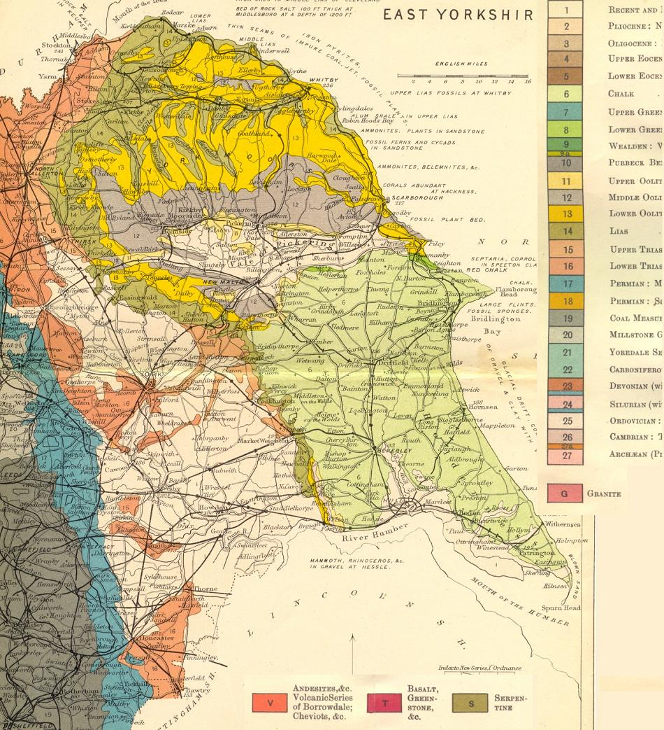 Map Of Uk East Coast.Geology Of Great Britain Introduction And Maps By Ian West