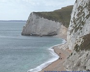 Cliffs towards Bat's Head, from Durdle Door