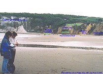 Whitecliff Bay, Isle of Wight, southern part, labelled