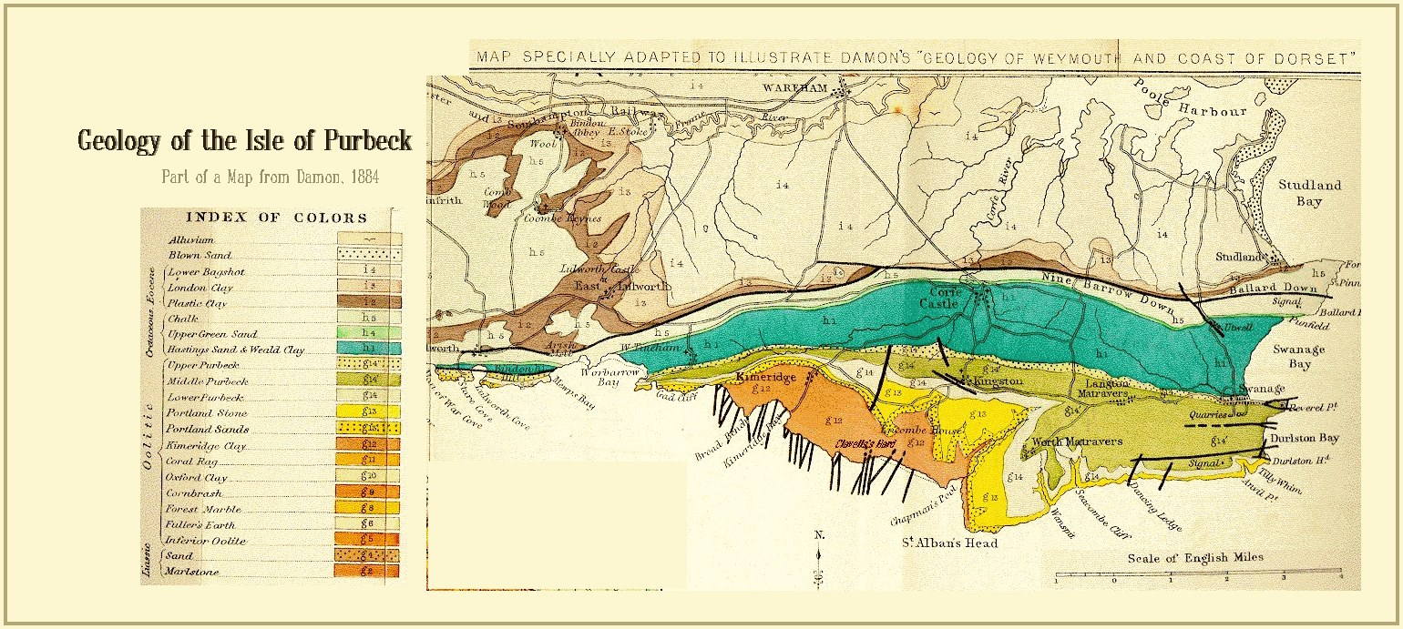 Map Of England Jurassic Coast.Geology Of The Central South Coast Of England Introduction And Maps