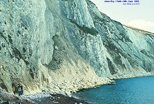 Chalk cliffs at south side of Alum Bay, 2002