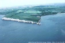 Aerial photograph - Ballard Point to Harry Rocks Chalk cliffs