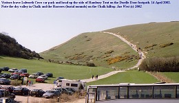 Path from car and coach park to Durdle Door