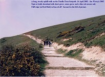 Old chalk path to Durdle Door, now paved