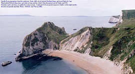 Durdle Door - view from the northeast, on cliff-top