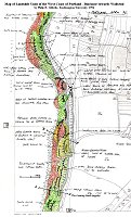 Map of landslide units on the west coast of Portland by Gilbride, 1994