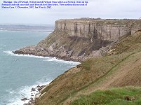 Mutton Cove and Blacknor cliffs of Portland Sands, Portland Stone and Purbeck Formation