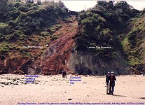 Reading Formation and London Clay Formation, Tertiary, Whitecliff Bay, Isle of Wight