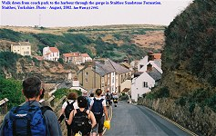 Downhill to Staithes Harbour