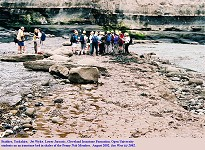 Ironstone bed in the shales of the Cleveland Ironstone Formation, Jet Wyke, Staithes, Yorkshire