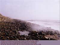 Broken limestone, sea defences, Barton in 2002