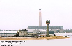 Fawley Power Station seen off Calshot Spit
