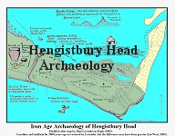 Archaeological map of Hengistbury Head