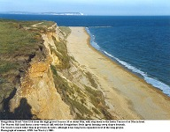 Hengistbury Head - old cliff top view ENE