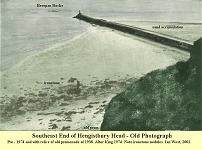 Groyne at southeastern end of Hengistbury - old photo