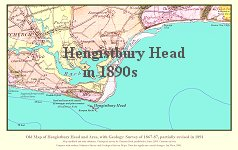 Hengistbury Head in 1890s