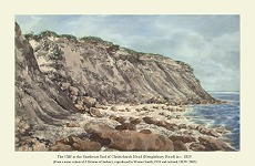 Ironstone at southeastern end of Hengistbury cliffs in 1825
