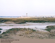 View from Calshot Marshes to Calshot