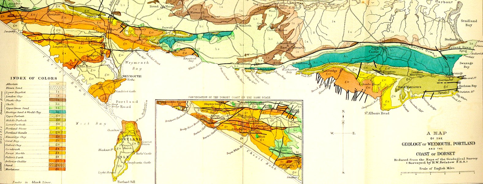 Map Of Uk East Coast.Geology Of The Central South Coast Of England Introduction And Maps