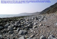 Beach of boulders and large pebbles near Black Head, Osmington Mills