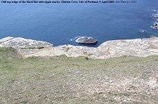 Cliff-top ledge of Hard Slatt, Mutton Cove