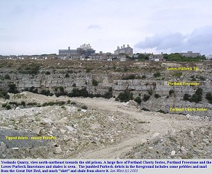 Yeolands Quarry in the eastern part of the Isle of Portland