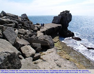 Pulpit Rock viewed towards the southwest, Isle of Portland, Dorset