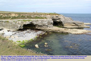 A beach probably formed by cave-collapse, Rudge Poryx, Portland Bill