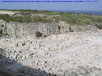 Blocks of Portland Stone in Coombefield Quarry, Isle of Portland