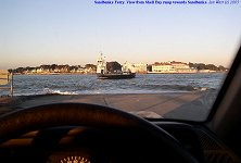 Sandbanks ferry from the ramp on the Shell Bay side