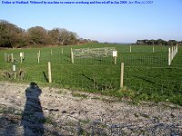 Doline fenced, as seen in Jan 2003