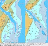 Studland Bay - comparison of old and newer charts