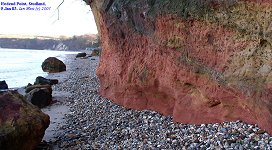 Redend Point with Redend Sandstone, looking south, Jan 2003
