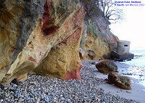Redend Point of the Broadstone Sand Member, Poole Formation, Eocene, Studland, January, 2003