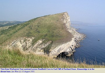 View eastward across Pondfield Cove to Gad Cliff, Dorset