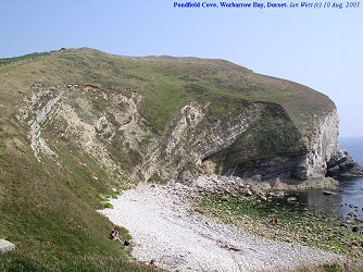 The curved embayment of Pondfield Cove, Worbarrow Bay, Dorset