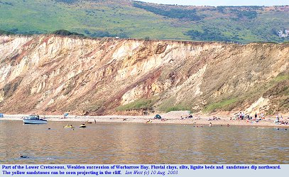 Part of the Lower Cretaceous Wealden strata of Worbarrow Bay