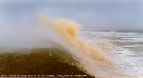 Storm wave, Christchurch Bay