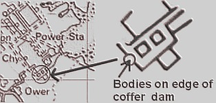 Locations of the supposed Bodies