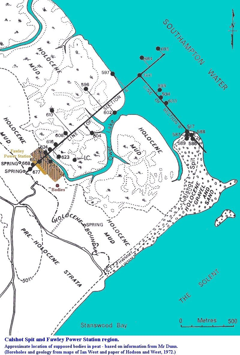 Map Of Uk Power Stations.Geology Of Fawley Power Station Excavations Southampton Water By