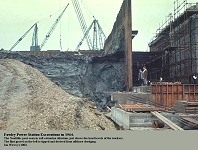 Fawley Power Station excavations, 1964