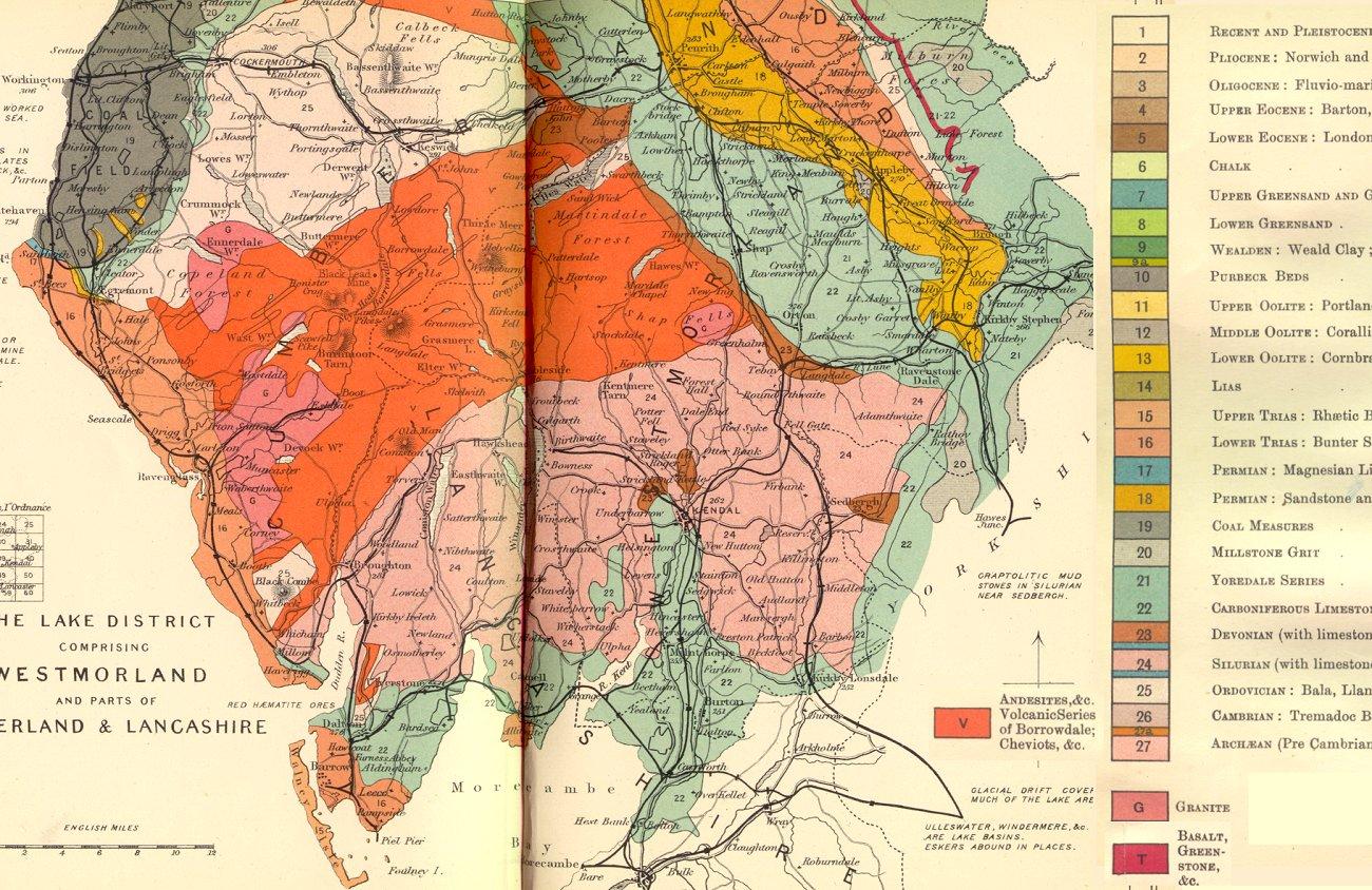 Lake District Geology Map