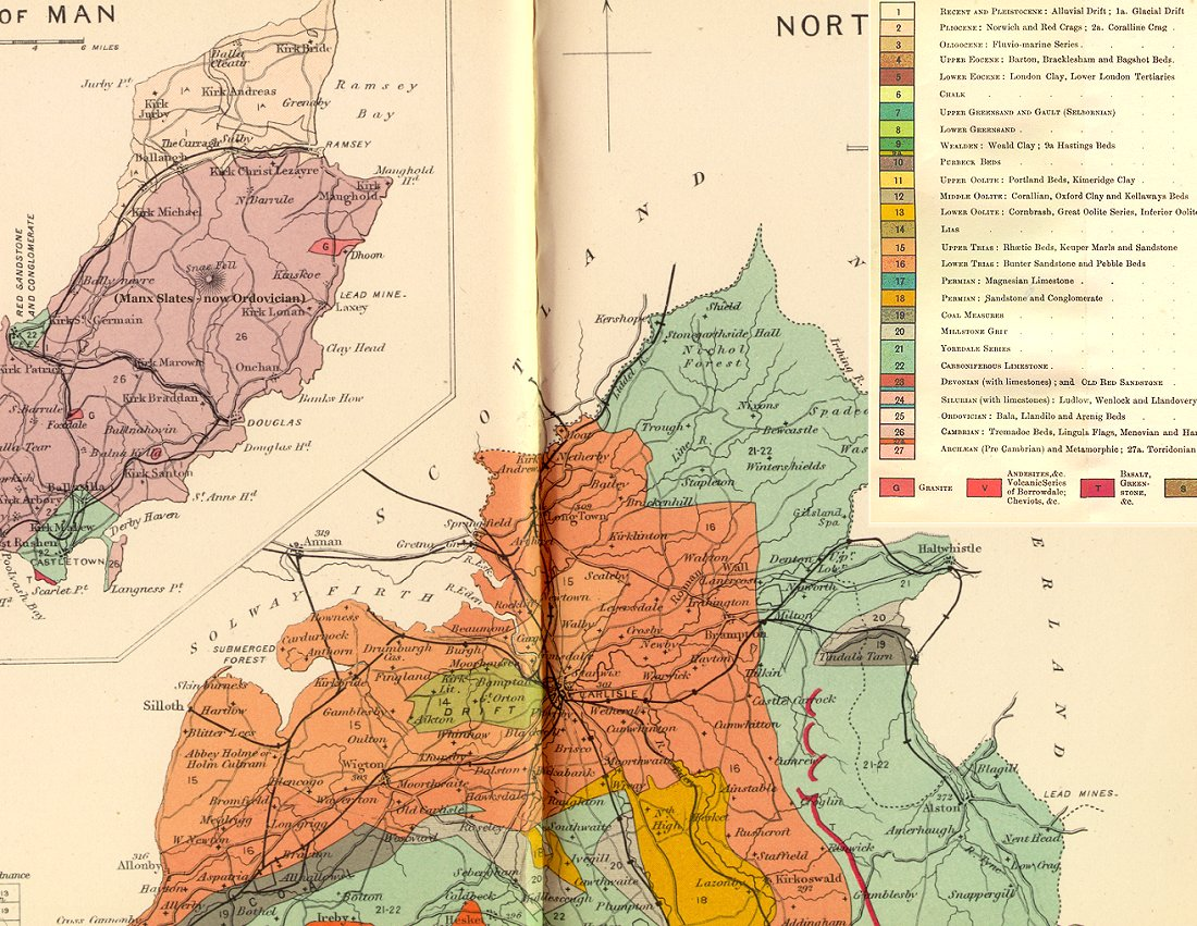 Map Of England 1100.Geology Of Great Britain Introduction And Maps By Ian West