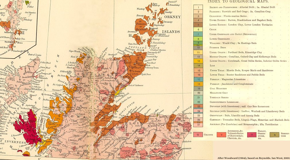 Map Of Uk 1000.Geology Of Great Britain Introduction And Maps By Ian West
