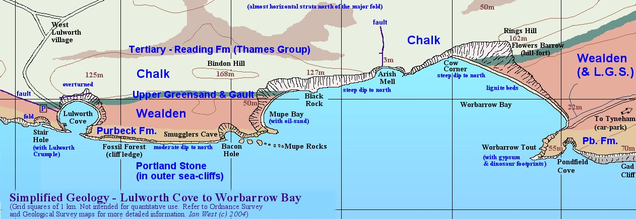 Map Of England Jurassic Coast.Lulworth Cove Dorset Geology Field Trip Guide To The Wessex Coast