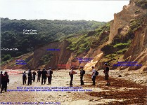 Whitecliff Bay, Isle of Wight, Reading Formation and London Clay Formation