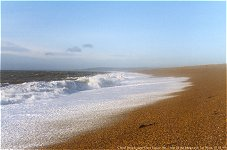 Backwash on Chesil Beach, 03.01.99