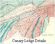 Geological map - Canary Ledge