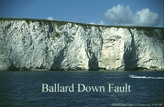 Ballard Down Fault, Chalk, Swanage - closer