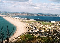 Portland Harbour and Chesil Beach